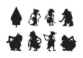 Vecteur de silhouette wayang gratuit