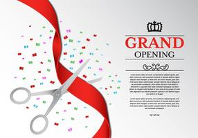 Ribbon Cutting Ceremony Vector