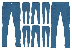 Blue Jeans Templates vector