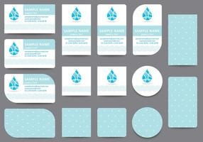 Water Name Card Templates vector