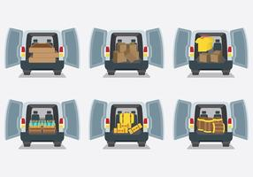 Gratis Auto Boot Pictogrammen Vector