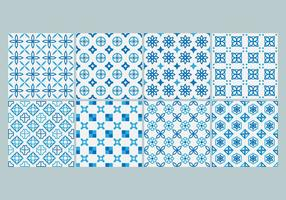 Kostenlose Azulejo Muster Vektor
