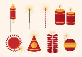 Gratis Fire Crackers Vector