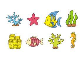 Free Coral Reef und Fisch Vektor