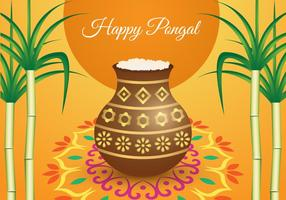 Free Pongal Background Vector