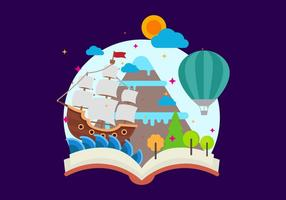 Gratis Storytelling Vector Illustration