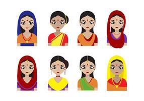 Vecteur féminin indien gratuit