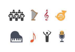 Libre Coro Vector Iconos