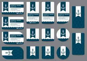 Modelos de cartão de visita Anchor vetor
