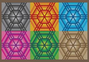 Huichol sechseckige Muster