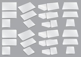 Modelos em branco do cartão de nome vetor