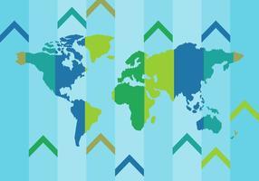 Vector mapa del mundo libre