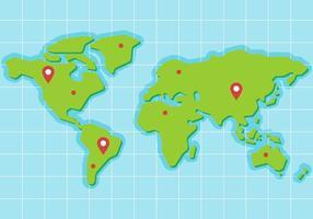 Gratis Wereldkaart Vector