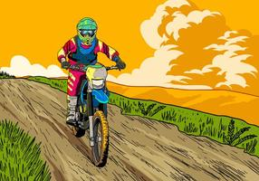 Let's Ride Dirt Bikes vector