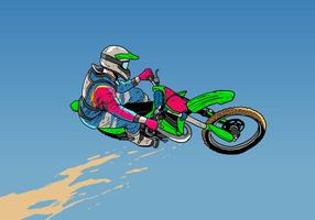 Dirt Bikes Jumping Action vector