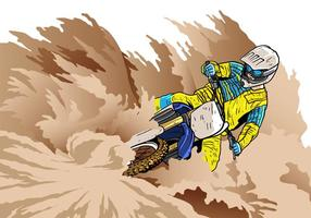 Dirt Bikes Sharp Corner Vector