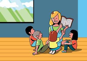 Kinderen luisteren verhaalvertelling