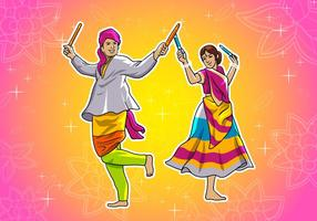 Garba Dance vector