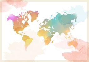 Aquarelle World Map Vector