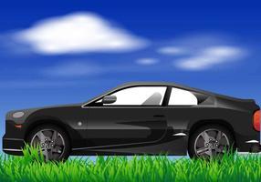 Prius negro del vector