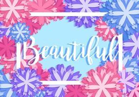 Resumen hermoso vector floral