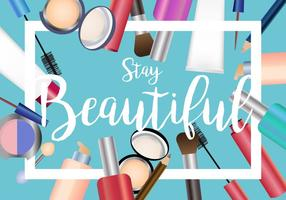 Beauty Set Of Make Up Vector
