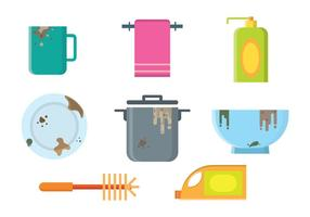 Dirty Dishes Vectors
