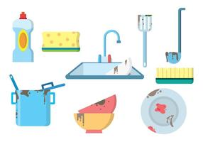 Gratis Dirty Dishes Vector