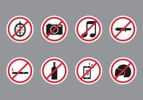 Forbidden Public Sign vector