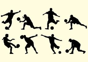 Silhouette Of Kickball Players vector