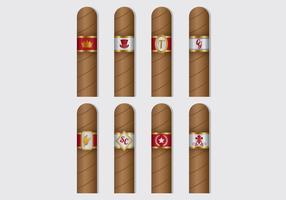 Vecteurs d'étiquettes de cigares