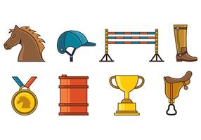 Set of Barrel Racing Icons