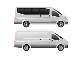 Plantilla de vectores de minibuses