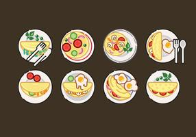 Omelet Vector Set Illustration