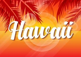 Free Hawaii Sunset Vector Illustration