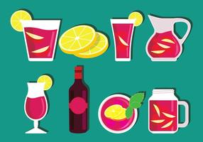 Sangria-vector-set