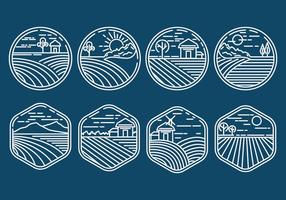 Rice Field Icons vector