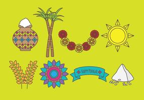 Pongal Icons vector