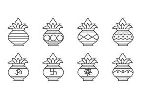 vettore icona kalash