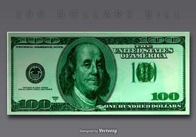 vettore banconota da 100 dollari