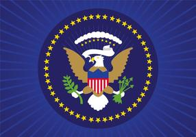 Gratis Flat Presidential Seal Vector Design