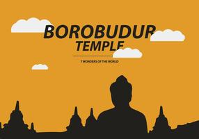 Vector de Templo de Borobudur grátis