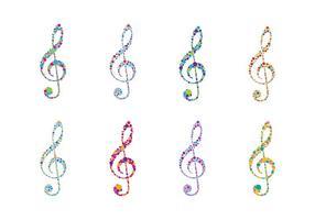 Vecteur logo clé de violon