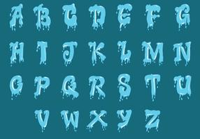 Conjunto de alfabeto de agua mayúscula