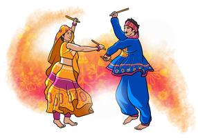 Garba Dancer vector