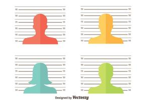 Mugshot Background Vector Set