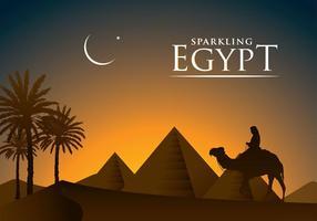 Pyramid Egypten Gratis Vektor