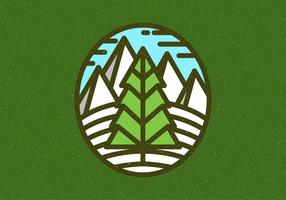 Winter Landscape Badge