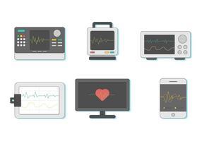 Vecteur moniteur cardiaque gratuit