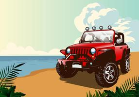 Summer Jeep vector